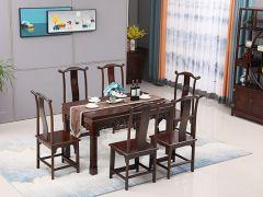 榆木靈芝餐桌